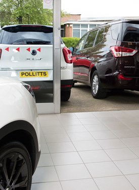 ELITE LIGHT GREY 300mm in CSG Pollitt car showroom, Exeter